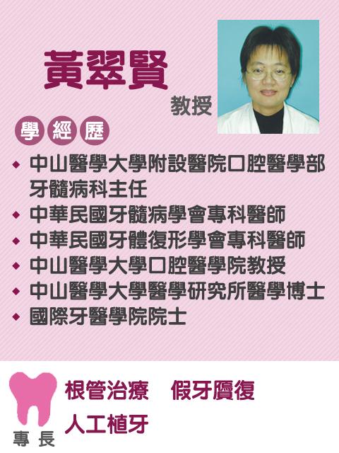 黃翠賢 教授
